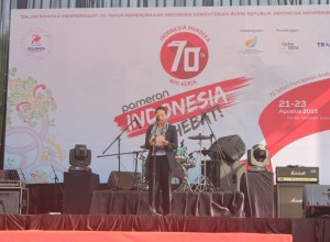 Pembukaan Pameran Indonesia Hebat 2015 oleh Menteri BUMN