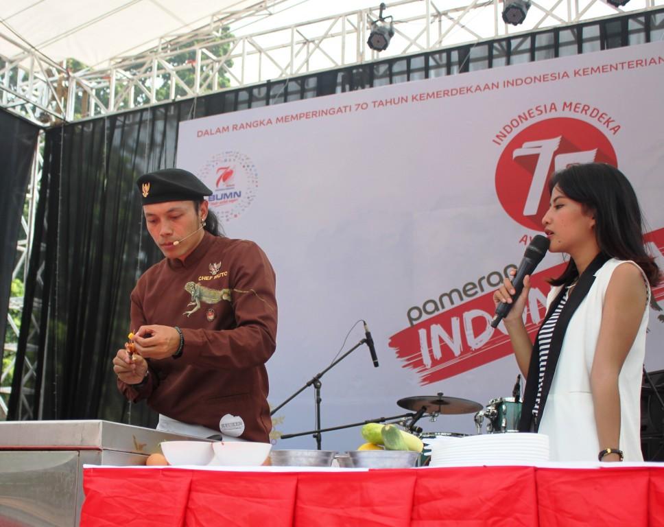 Cooking Class Bareng Chef Muto di Hari Kedua, Pameran Indonesia Hebat