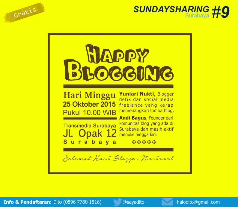 Kumpul Blogger di Sunday Sharing Surabaya #9