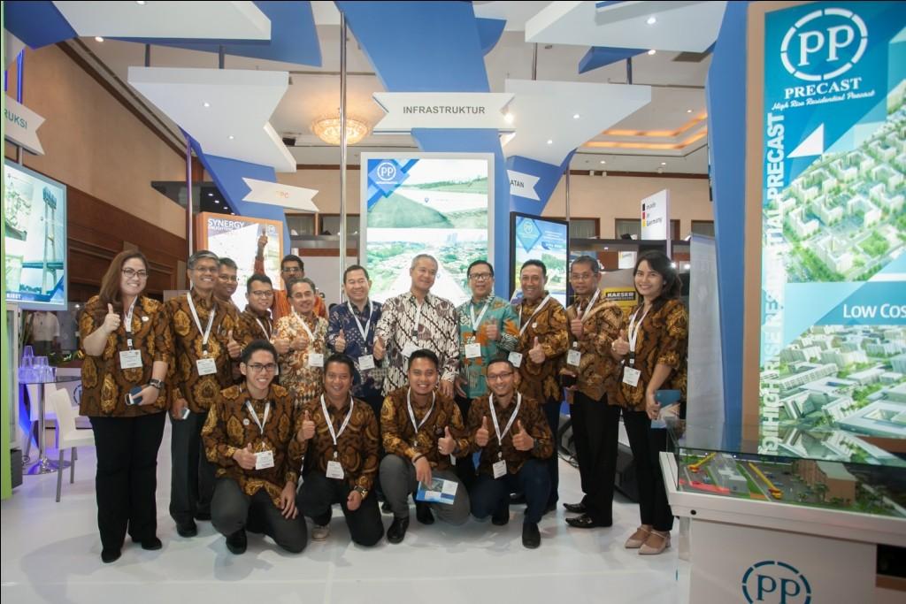 Hari Pertama - tim PP di ajang Konstruksi Indonesia 2016