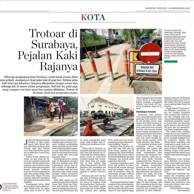 Trotoar di Surabaya pejalan kaki Rajanya!   Thanks tohellip